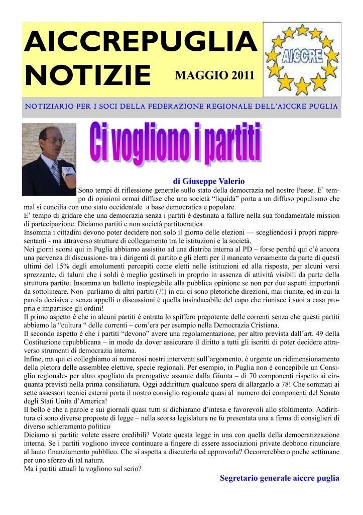 NOTIZIARIO MAGGIO 2011