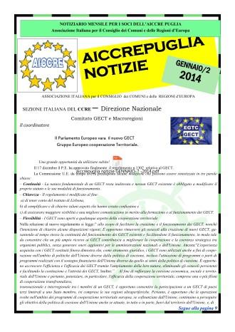 NOTIZIARIO GENNAIO 2014 N.2