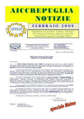 NOTIZIARIO FEBBRAIO 2009