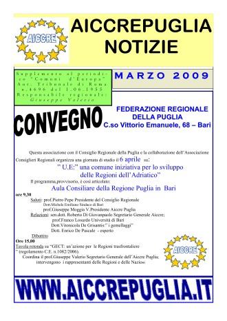 NOTIZIARIO MARZO 2009