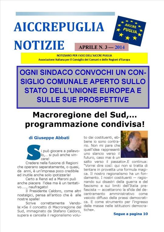 aiccrepuglia notizie APRILE N. 3 - 2014