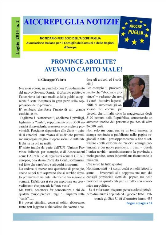 aiccrepuglia notizie LUGLIO 2014 - N. 2