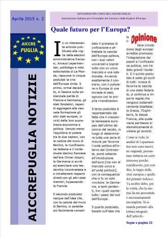 aiccrepuglia notizie - aprile 2015 n. 2