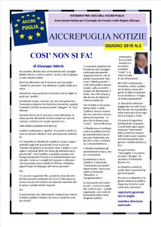 aiccrepuglia notizie giugno 2015 N.3