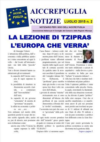 notiziario aiccrepuglia - luglio 2015 n. 2
