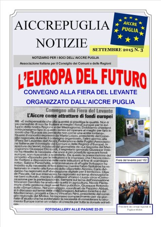 aiccrepuglia notizie - settembre 2015  n. 3