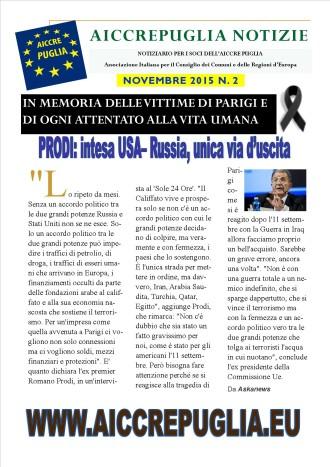 aiccrepuglia notizie novembre 2015 N. 2