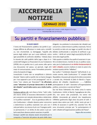 AICCREPUGLIA NOTIZIE DI GENNAIO 2020