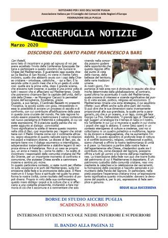 aiccrepuglia notizie di marzo 2020