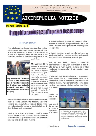 aiccrepuglia notizie di marzo 2020 N.4