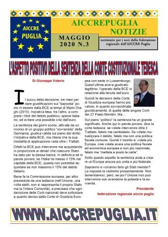aiccrepuglia notizie MAGGIO 2020 N. 3